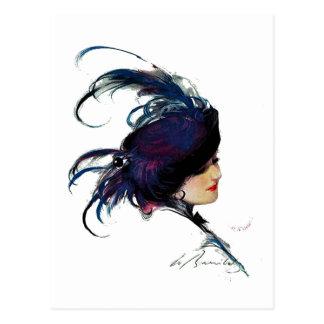 Señora del Azul-pájaro del duende malicioso Postal