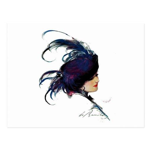 Señora del Azul-pájaro del duende malicioso Tarjetas Postales