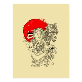 señora del dragón postal
