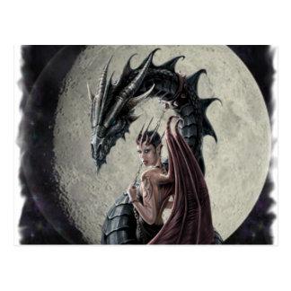Señora del dragón - postal