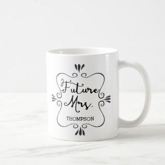 Señora del futuro de la tipografía taza de café