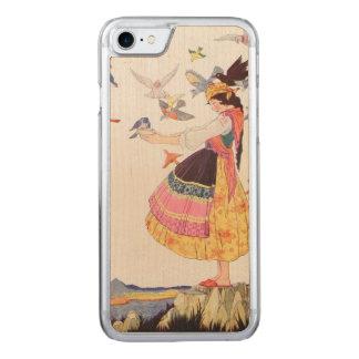 Señora del pájaro funda para iPhone 7