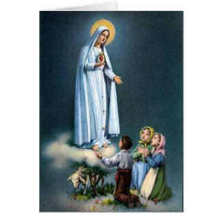Señora del rosario del Virgen María de Fátima Tarjeta De Felicitación