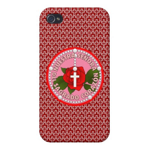 Señora del Sagrado Corazón iPhone 4 Cárcasas