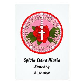 Señora del Sagrado Corazón invita Invitación 12,7 X 17,8 Cm