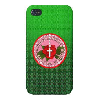 Señora Del Sagrado Corazón iPhone 4 Protectores