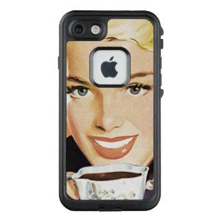 Señora del vintage en el iPhone C del ejemplo del