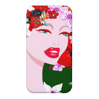 Señora del vintage iPhone 4/4S carcasa