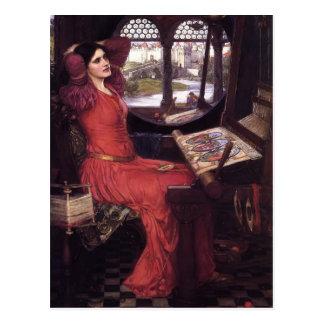 Señora del waterhouse de Juan de Shalott Postal