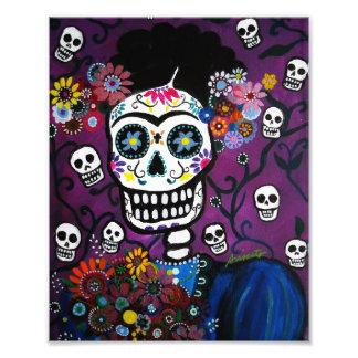 Señora día mexicana de la pintura muerta arte fotografico