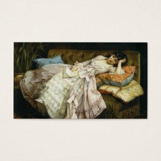 Señora elegante del Victorian del vintage, Tarjeta De Negocios