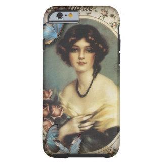 Señora elegante Fashion de París de la mariposa Funda De iPhone 6 Tough