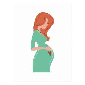 Señora embarazada postal