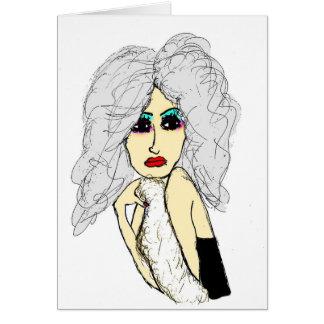 Señora en piel tarjeta de felicitación