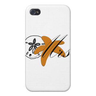 Señora estrella de mar del dólar de arena iPhone 4/4S fundas