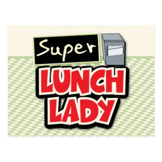 Señora estupenda del almuerzo postales