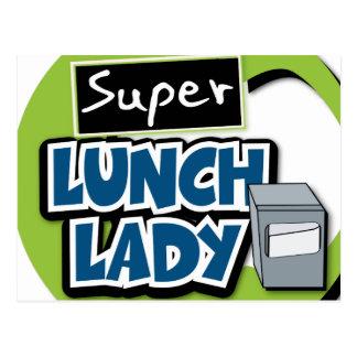 Señora estupenda del almuerzo postal