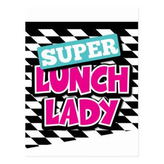Señora estupenda Retro del almuerzo Postal