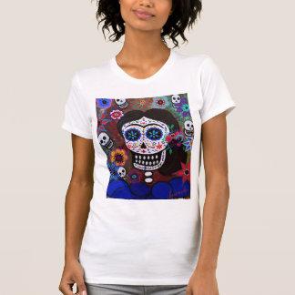 Señora famosa mexican Artist Dia de los Muertos Camiseta