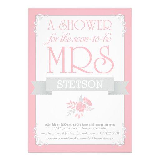 Señora futura Bridal Shower Invite el | se Comunicado