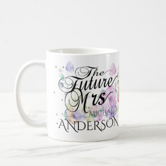 Señora futura de encargo Calligraphy Taza De Café
