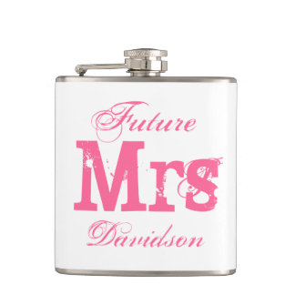 Señora futura frasco de la bebida del boda para petaca