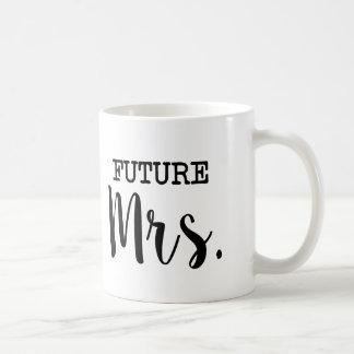 Señora futura novia divertida taza de café