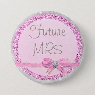 Señora futura Pink y botón del brillo del arco de