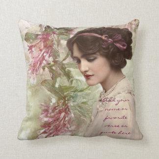 Señora hermosa Actress Portrait del Victorian del Cojín Decorativo
