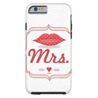 Señora Hipster Vintage Retro Bride de los labios Funda Para iPhone 6 Tough