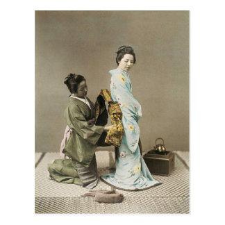 Señora japonesa Geisha Asian Vintage Art Postal