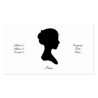 Señora joven silueta versión 1 plantillas de tarjeta de negocio