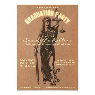 Señora Justice de las invitaciones el | de la Invitación 12,7 X 17,8 Cm