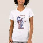 Señora Liberty 1776 el 4 de julio. Camiseta de las