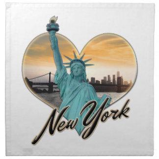 Señora Liberty del recuerdo del horizonte de NYC Servilleta De Tela