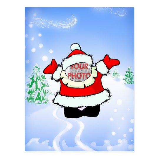 Señora linda Santa Customizable Photo Gift Postal