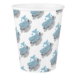 señora loca de la ballena vaso de papel