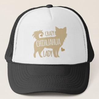 señora loca de la chihuahua gorra de camionero