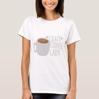 Señora loca del café camiseta