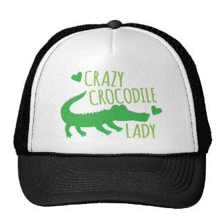 Señora loca del cocodrilo gorras