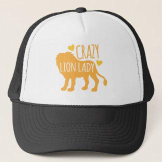 señora loca del león gorra de camionero