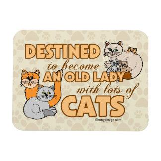Señora loca futura Funny Saying Design del gato Iman