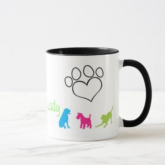 Señora loca Mug del perro Taza