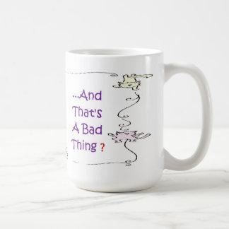 Señora loca Mug Rightie Bigger del gato Taza De Café