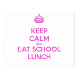 Señora Loves Nutrition del almuerzo escolar Postal