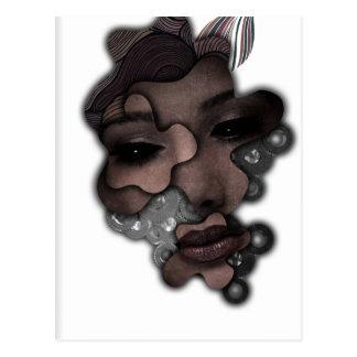 Señora mecánica Face Crazy Metal de Wellcoda Postal