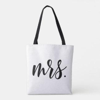 Señora moderna Bride Wedding por todo la bolsa de