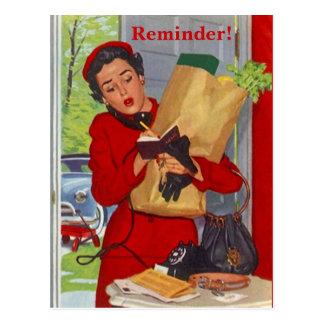 Señora ocupada Appointment Reminder PC de la Postal