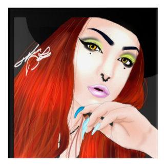 Señora Of Bright Colors Impresión Acrílica