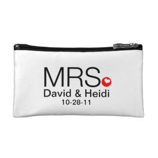 Señora personalizada Wedding Bride Cosmetic Bag